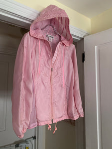 ss2000 Issey Miyake Pink Translucent Mesh Technical Jacket - Size M