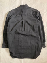 Load image into Gallery viewer, 1980s Katharine Hamnett Black Soft Cotton Oversized Military Shirt - Size XL