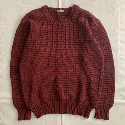 1980s CDGH Maroon Heavy Cotton Knitted Sweater - Size M