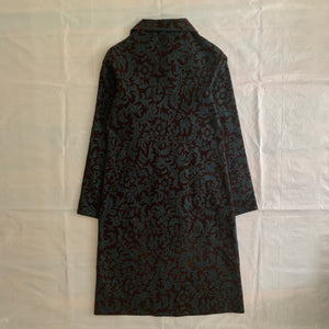 aw1996 CDG Felt Floral Pinstripe Dress - Size S