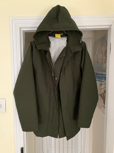 2000s Mandarina Duck Paneled Military Parka with Removable Lining - Size L