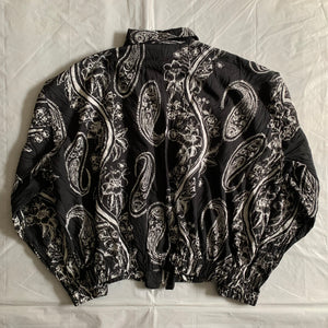 ss1996 Issey Miyake Light Cropped Paisley Jacket with Layered Pocket Details - Size M