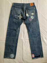 Load image into Gallery viewer, 2000s Yohji Yamamoto x Spotted Horse Repaired Distressed Denim - Size L