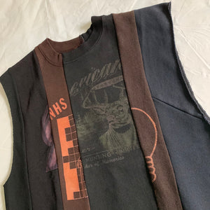 aw2004 Margiela Artisanal Reconstructed Cutoff Crewneck Sweater - Size M