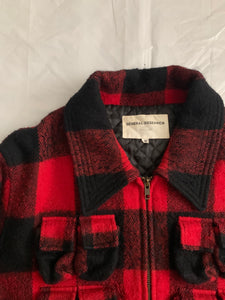 1998 General Research 37 Pocket Plaid Hunting Jacket - Size L