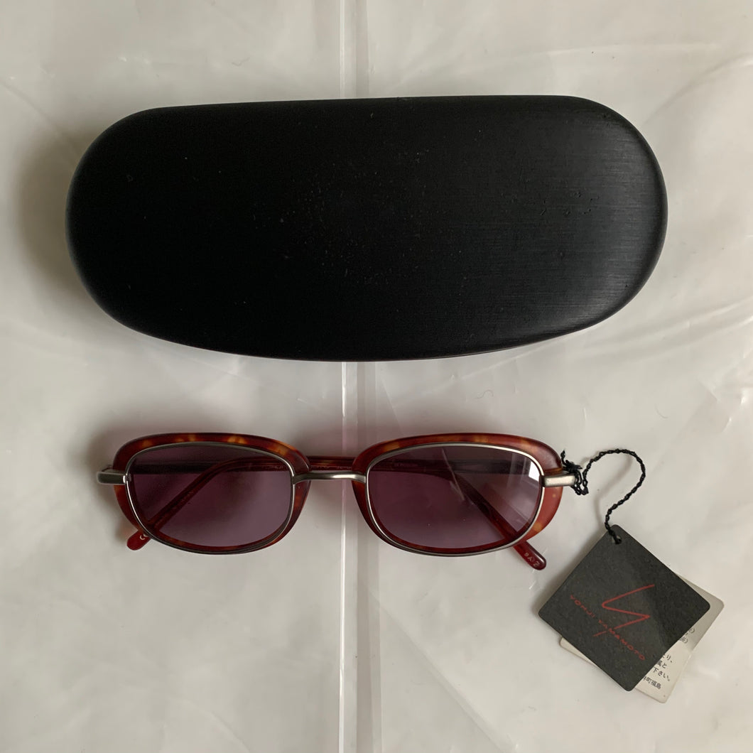 2000s Yohji Yamamoto Rose Lens Red Technical Frames - Size OS