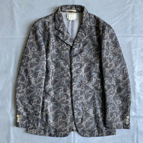 1997 CDGH+ Polyester Mesh Paisley Jacket - Size S