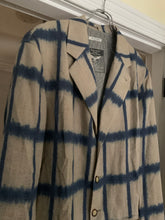 Load image into Gallery viewer, 1990s Armani Checkered Dyed Beige Linen Blazer - XL