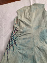 Load image into Gallery viewer, 1990s Vintage Joe Casely Hayford Object Dyed Dress with Slash Embroidery - Size S