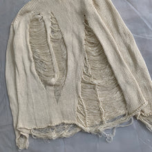 Load image into Gallery viewer, 1990s Yohji Yamamoto Destroyed Cream Knitted Sweater - Size M