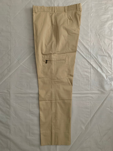 2000s Samsonite Active Wear Beige Technical Cargo Pants by Neil Barrett - Size M