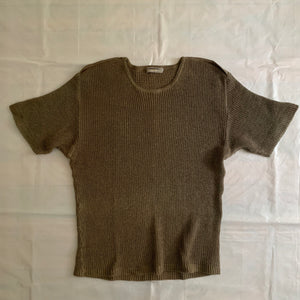 1980s Issey Miyake Knitted Short Sleeve - Size M