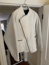 Load image into Gallery viewer, 1980s Issey Miyake White Dual Backzip Heavy Cotton Bomber Jacket with Asymmetric Closure - Size XL