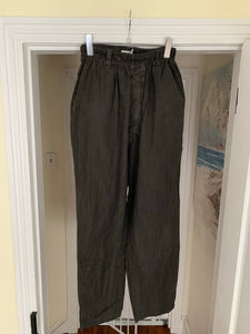 ss2000 Issey Miyake Washed Black Lounge Pants with Elastic Waistband - Size OS