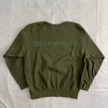 Load image into Gallery viewer, 1990s Issey Miyake Faded Earth Tone Forest Green Crewneck - Size M