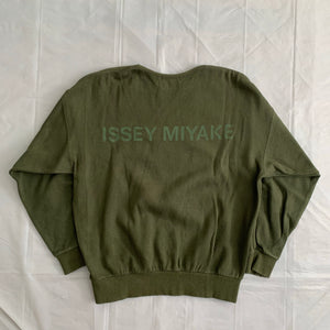1990s Issey Miyake Faded Earth Tone Forest Green Crewneck - Size M