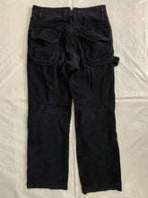 Load image into Gallery viewer, 2000s Armani Deep Black Articulated Corduroy Carpenter Pants - Size M