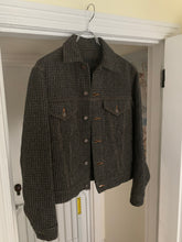Load image into Gallery viewer, 1997 CDGH Charcoal Grey Textured Tweed Trucker Jacket - Size M