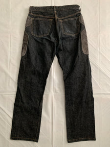 2000s CDGH Leather Patch Paneled Work Denim - Size M