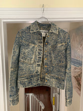 Load image into Gallery viewer, ss2007 Issey Miyake Rose Embossed Paneled Denim Jacket - Size XS