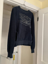 Load image into Gallery viewer, 2000s Bernhard Willhelm Faded Aqua Insideout Crewneck with Kangaroo Pocket - Size M
