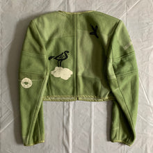 Load image into Gallery viewer, 1989 CDG Green Object Dyed and Hand Painted Bolero Jacket - Size S