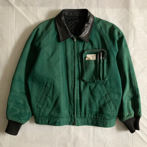 aw1990 CDGH Forest Green Cargo Bomber Jacket - Size L