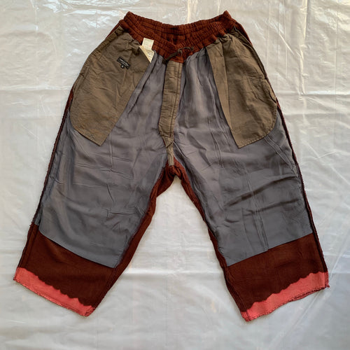 aw1993 CDGH+ Maroon Bleach Dyed Sweatpants - Size M