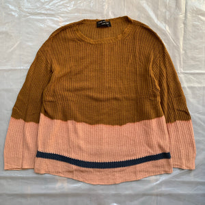 aw1993 CDGH+ Brown and Pink Bleach Dye Knit - Size OS