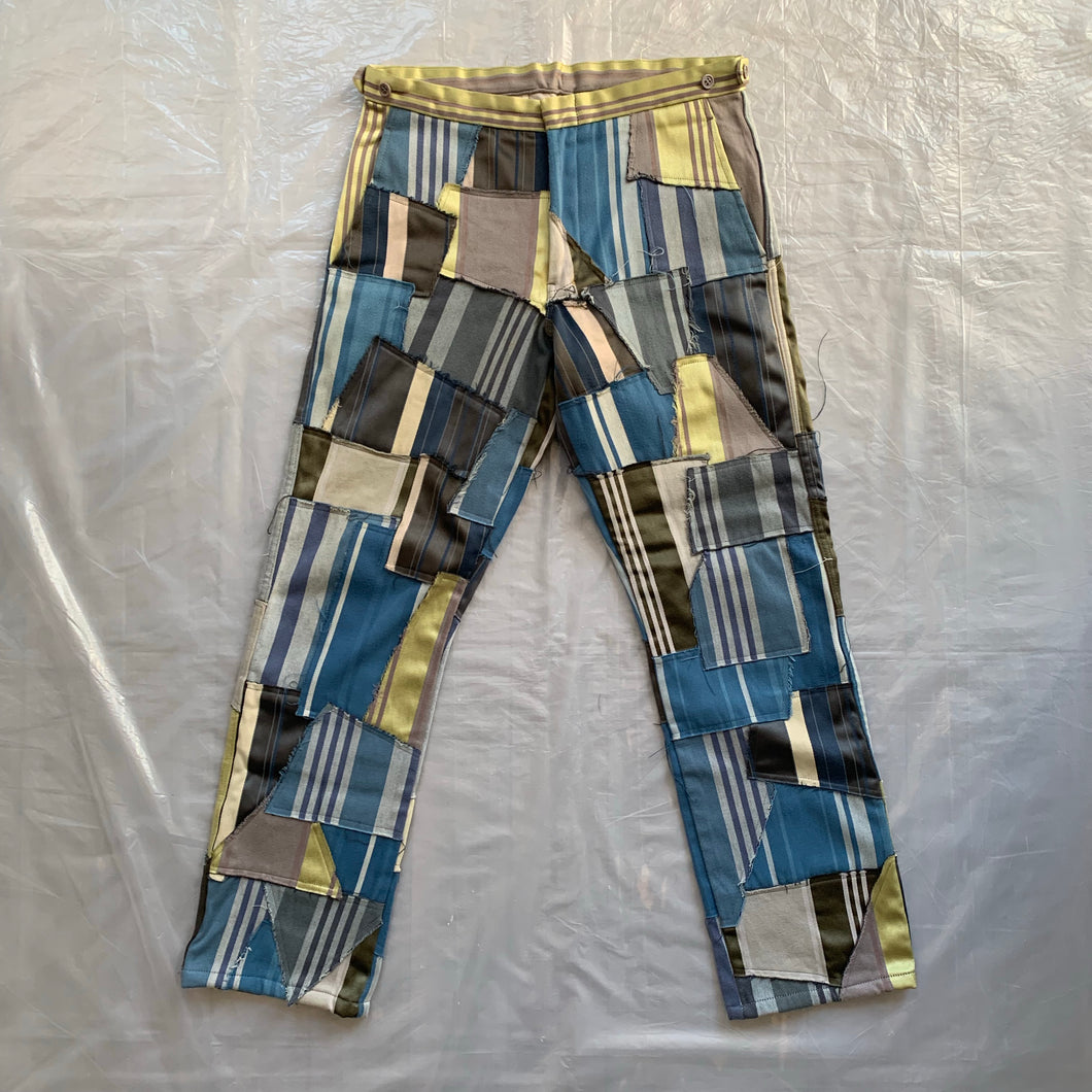 ss2000 CDGH+ Striped Tapestry Patchwork Trouser - Size L