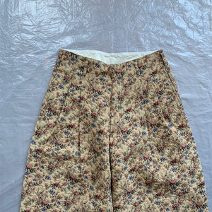 aw2011 CDGH+ Beige Gobelin Tapestry Floral Double Pleated Trouser - Size XS