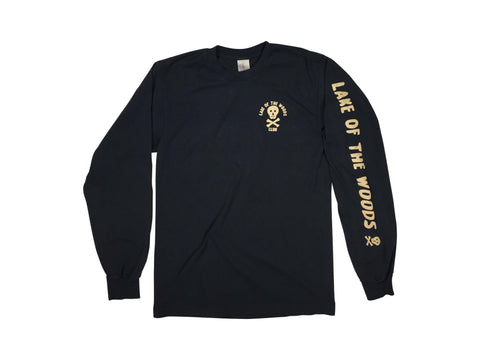 LOTWC LS - BLACK w CREAM PRINT - Lake of the Woods Club