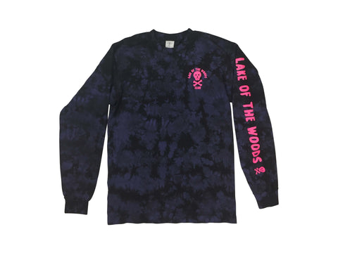 LOTWC LS - PURPLE TIE DYE w PINK PRINT - Lake of the Woods Club