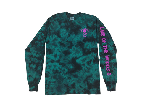 LOTWC LS - TEAL TIE DYE w PURPLE INK - Lake of the Woods Club