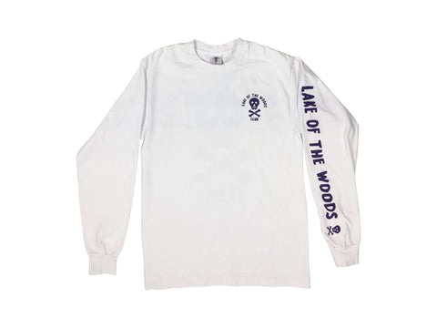 LOTWC LS - WHITE w PURPLE PRINT - Lake of the Woods Club