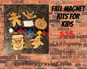 Magnet Kits for Halloween. Do It Yourself Painted Fall Kits for Kids. - C & A Engraving and Gifts