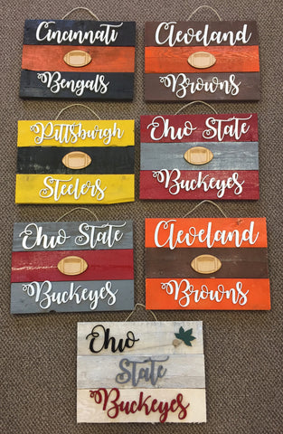 Sports Team Pallet Wood Sign. Man Cave Gift. - C & A Engraving and Gifts
