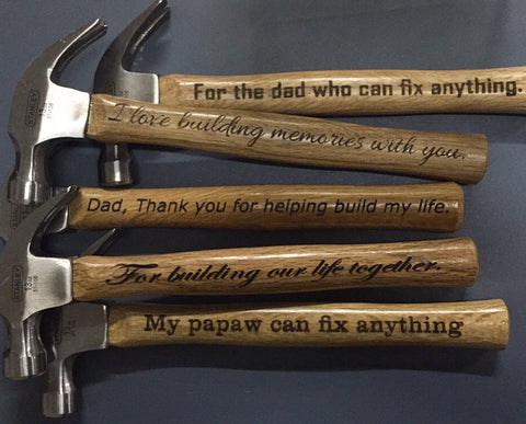 Engraved 13 oz Wooden Hammer - C & A Engraving and Gifts