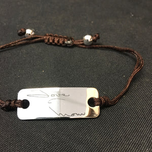 Photo Engraved Handwritten String Bracelet - C & A Engraving and Gifts