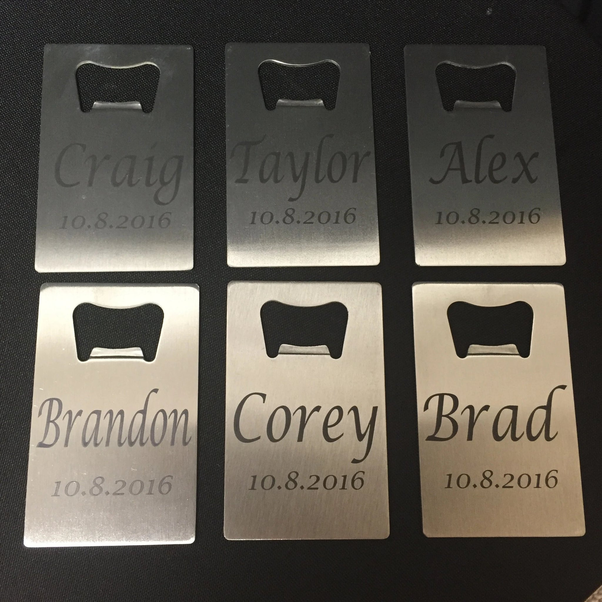 Credit Card Bottle Opener Personalized for Groomsmen. Groomsman Gift. - C & A Engraving and Gifts