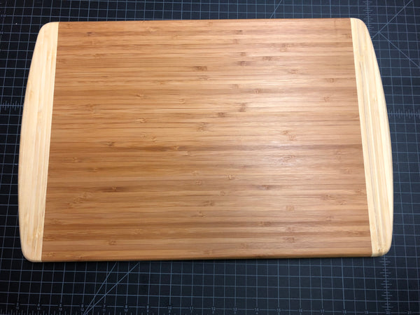 Personalized XL Cutting Board for Wedding or Anniversary. Engraved Bamboo Board. - C & A Engraving and Gifts