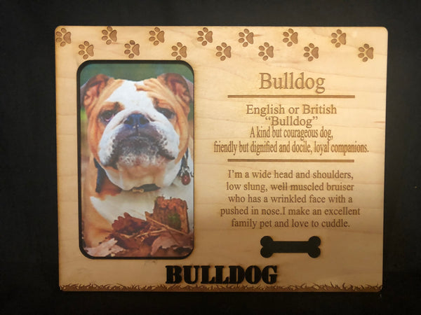 Engraved Dog Breed Photo Frame - C & A Engraving and Gifts