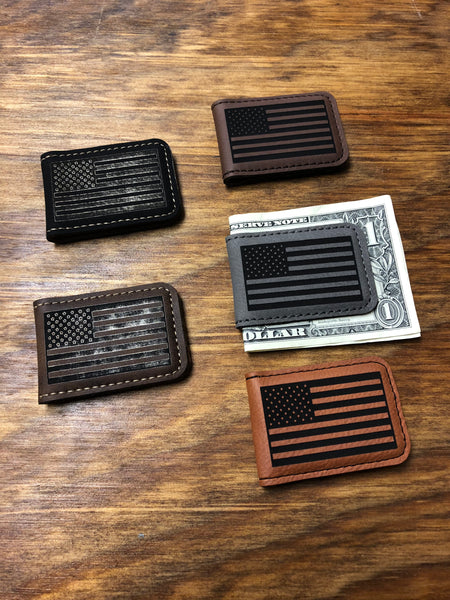 Money Clips Personalized. Flag Money Clip. Groomsman Gift.