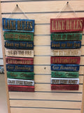 Lake Rules Colorful Pallet Wood Sign