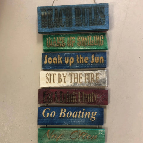 Beach Rules Pallet Wood Sign. - C & A Engraving and Gifts