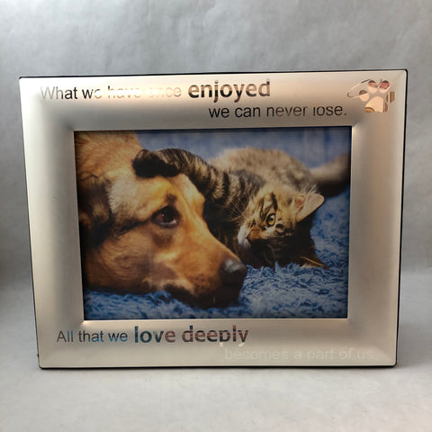 Pet Memorial Photo Frame. Loss of Pet Picture Frame. - C & A Engraving and Gifts