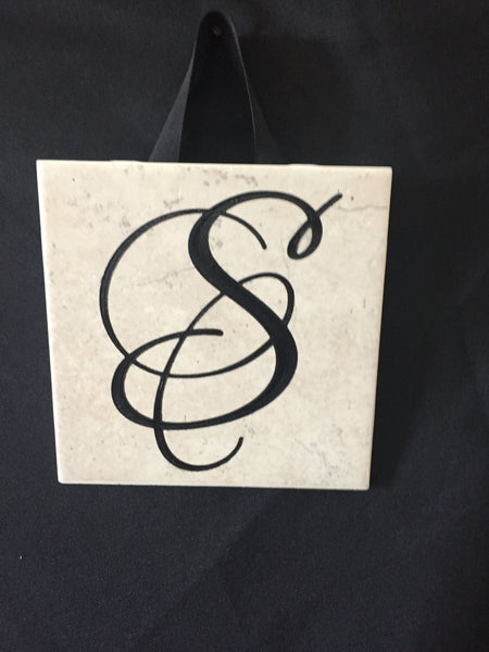 Personalized Engraved Initial Tiles - C & A Engraving and Gifts