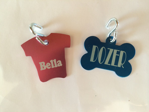 Dog Tags. Pet ID Tags. Personalized Lost Pet Tag. - C & A Engraving and Gifts