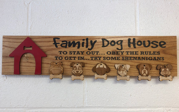 Family Dog House Wooden Sign