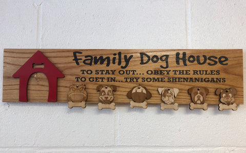 Family Dog House Wooden Sign - C & A Engraving and Gifts